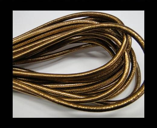 Fine Real Nappa Leather-Antique gold-6mm