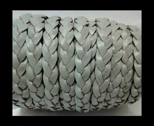 Flat 3-ply Braided Leather-SE-Light Grey-10MM