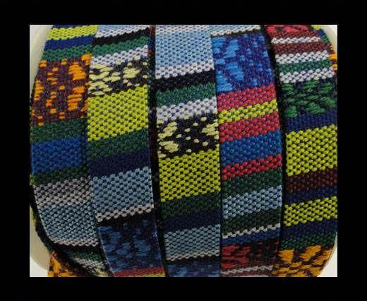 Flat multicolor Fabric cord-10mm-color2a
