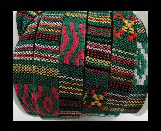 Flat multicolor Fabric cord-10mm-Color 4