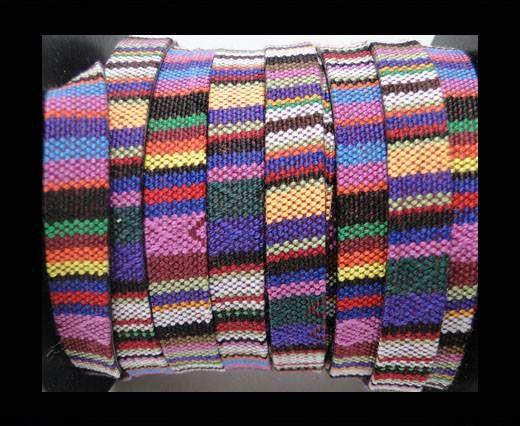 Flat multicolor Fabric cord-10mm-Color 10