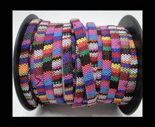 Flat multicolor Fabric cord-5mm-Color 10