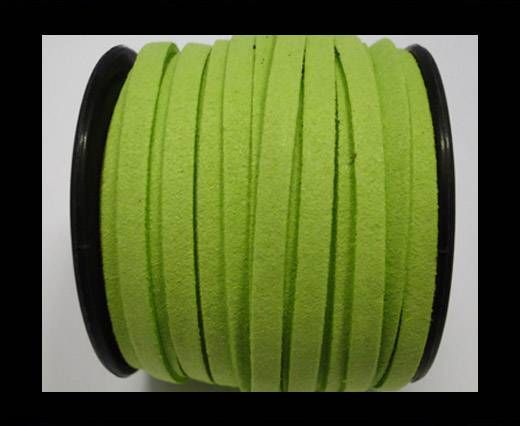 Flat suede cord -5 mm - Neon green