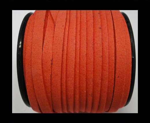 Flat Suede Cord - 5mm - Watermelon Red