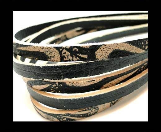 Flat Vintage Leather - 5mm -  Beige