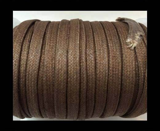 Flat Wax Cotton Cords - 5mm  - Taupe
