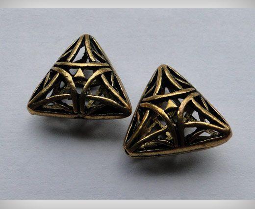 SE-1697-Gold Antique Large Sized Beads