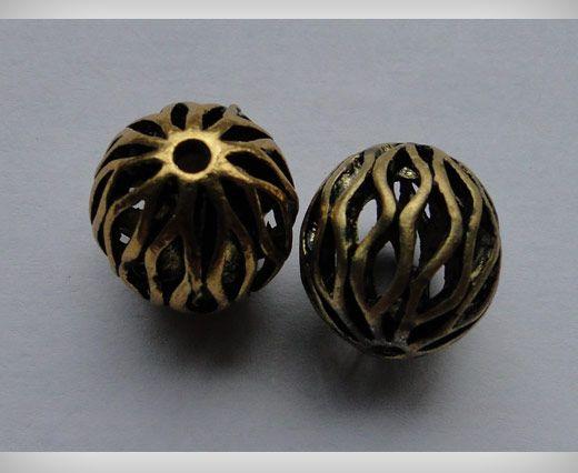 SE-1698-Gold Antique Large Sized Beads