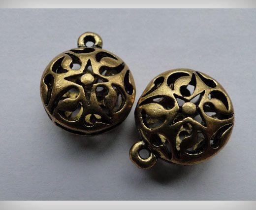SE-1699-Gold Antique Large Sized Beads