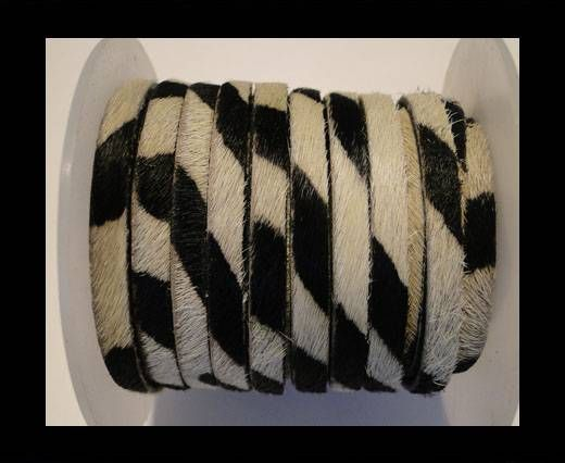 Hair-On Leather Flat-Zebra-20mm