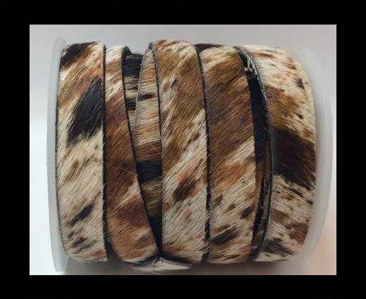 Hair-On-Flat Leather-dark cow print-10MM