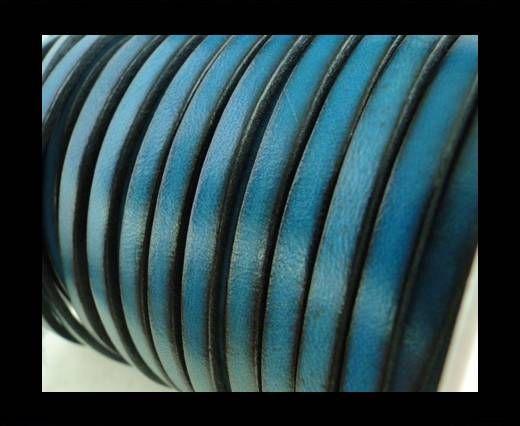 Flat Leather 5mm - Vintage Sky Blue