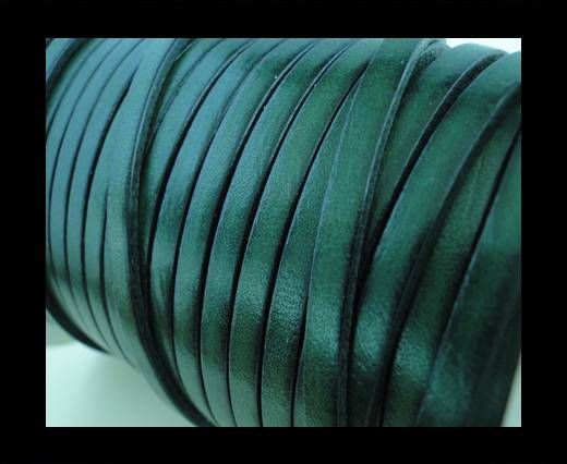 Flat Leather 5mm - Bottle Green