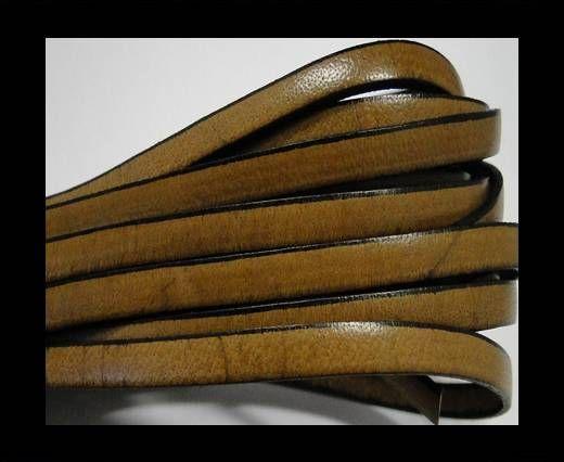 Flat leather - 5 mm - Black edges - Hazelnut