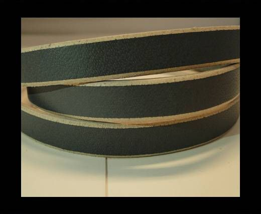 Flat Leather- Natural Edges -Grey-10mm