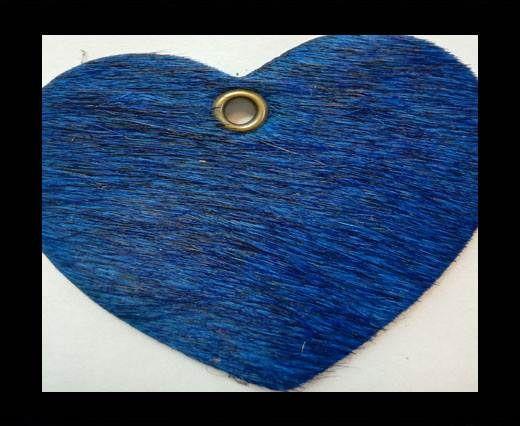 KC-Key Cord Heart Shape 4cm blue hair-on