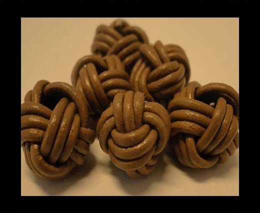 Leather Beads -12mm-Light Green