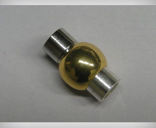 Magnetverschlüsse für Leder Kordeln- MGL1-5mm-Gold-Silver