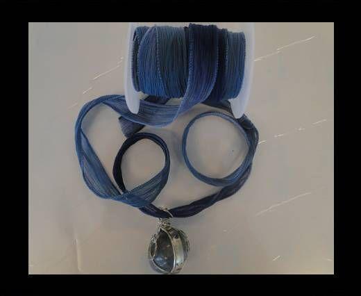 MC-Seidenband-Dusty Blau