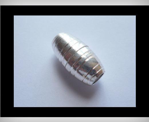Magnetverschlüsse für Leder Kordeln-MGL9-5mm-Silber