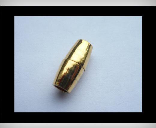 Magnetverschlüsse für Leder Kordeln-MGL8-4mm-Gold