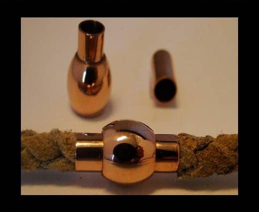 Verschlüsse für Lederkordeln - MGST-01 - 4mm - Rose Gold