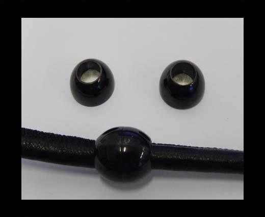 Verschlüsse für flaches Leder - MGST-100 - 4mm - Schwarz