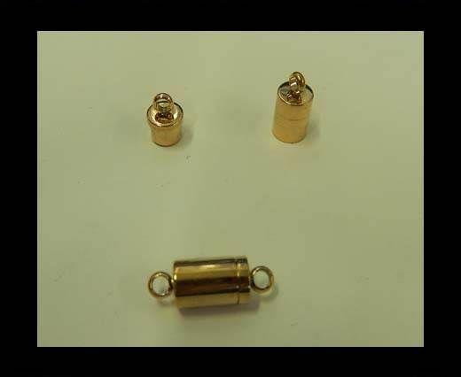 Verschlüsse für flache Lederkordeln - MGST 123 - 7 mm - Rose Gold