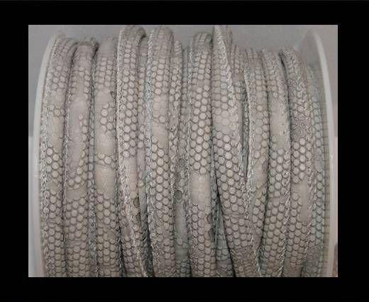 Nappa Leder-4mm-Snake-Dotted-Style-Grau