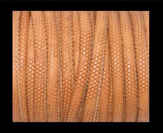 Nappa Leder-4mm-Snake-Dotted-Style-Hellbraun
