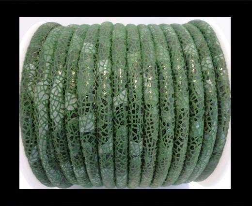 Nappa Leder - 4mm - Stingray-Fish-Style - Grün