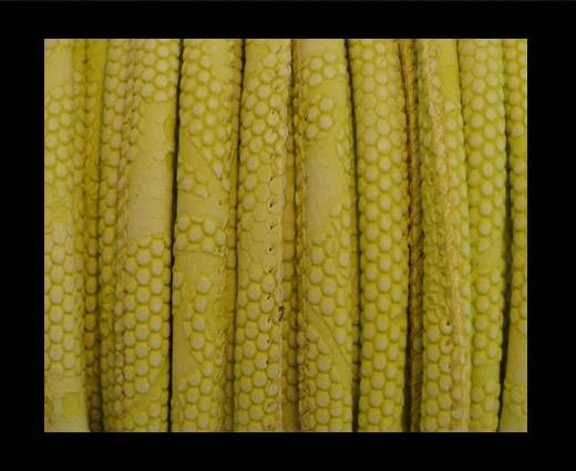 Nappa Leder - 6mm - Snake-Dotted-Style - Citrin
