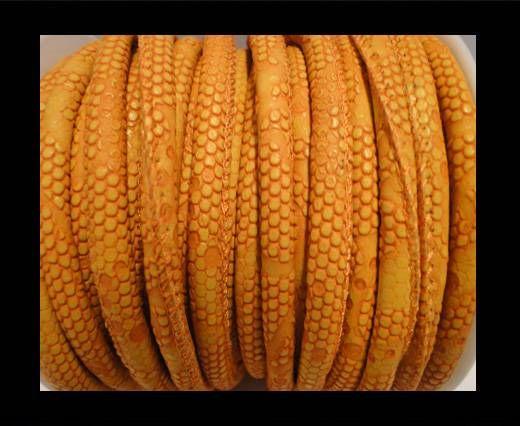 Nappa Leder - 6mm - Snake-Dotted-Style - Orange