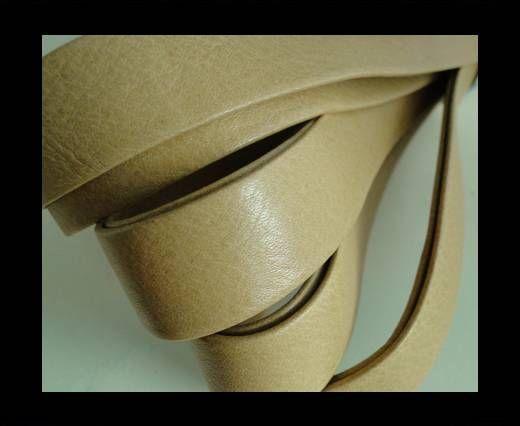 Nappa Leather Flat-Cream-20mm