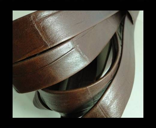 Nappa Leather Flat-Crocodile Style-20mm