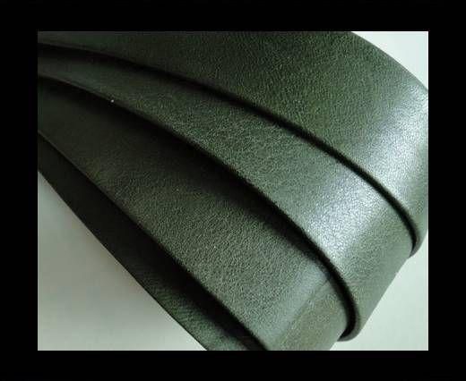 Nappa Leather Flat-Green-20mm