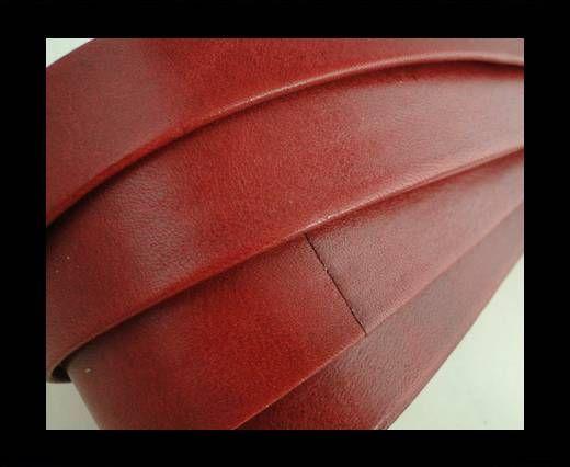 Nappaleder, flach, 20mm – Red