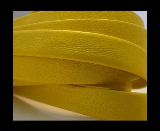 Nappa Leather Flat-Bright Yellow-10mm