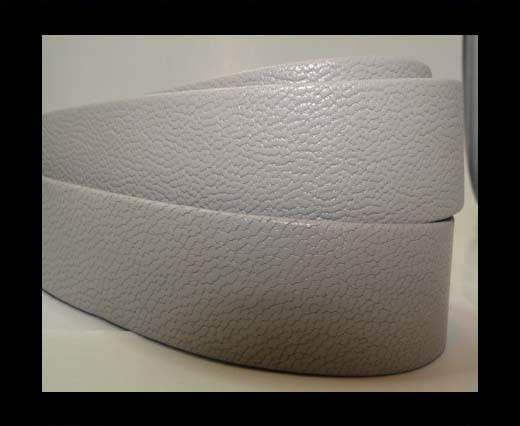 Nappaleder, flach, 20mm – Grau