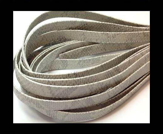Nappa Leather Flat- Python  Grey-10mm