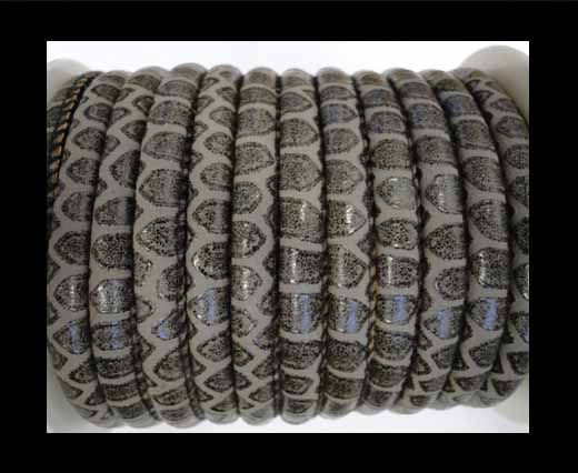 Nappa Leder-Snake-Patch-Style-4mm-Dunkelgrau
