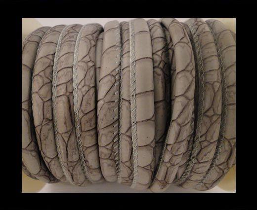 Nappa Leder-Snake-Style-4mm-Patches-Style-Grau