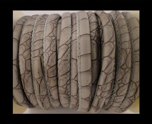Nappa Leder-Snake-Style-6mm-Patches-Style-Grau