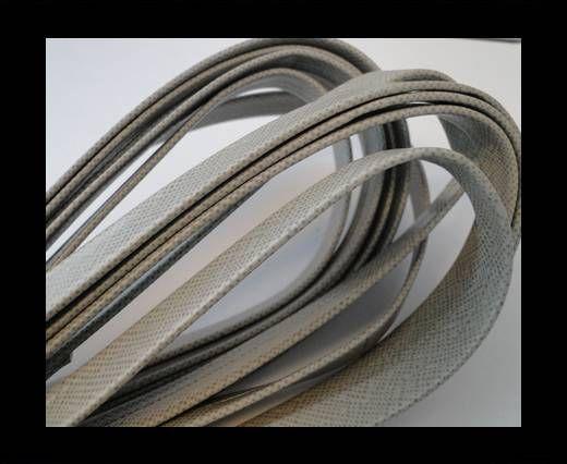 Nappa Leder flach-Ocelot-Snake-Grau-10mm