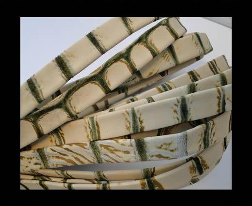 Nappa Leder flach-Snake-Light-Grass-10mm