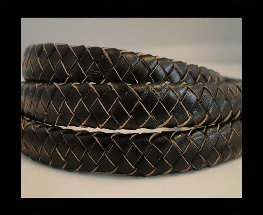 Oval Braided Leather Cord - SE-R-03