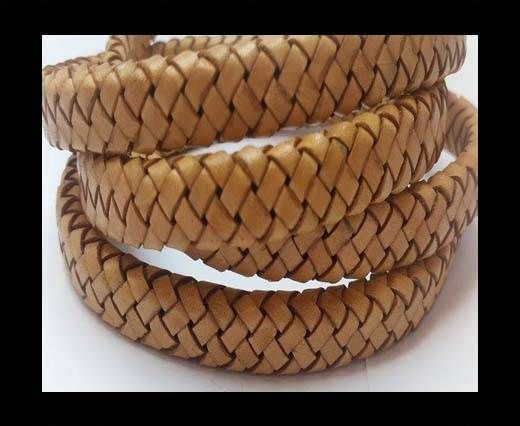 Oval Braided Leather Cord - SE DB 02