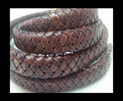 Oval Braided Leather Cord - SE PB 21