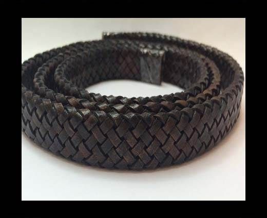 Oval Braided Leather Cord - SE.DB.02