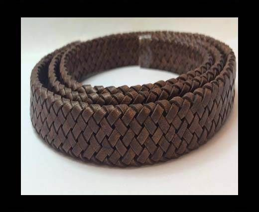 Oval Braided Leather Cord - SE.PB.10
